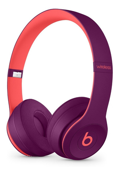 Fone Apple Beats Solo3 Wireless Pop Magenta Purple Roxo Novo