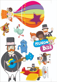 Kit Display Mundo Bita Bichos 7 Peças + 1 Elipse