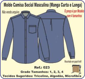 Molde Camisa Social Masculina (manga Curta E Longa) 023