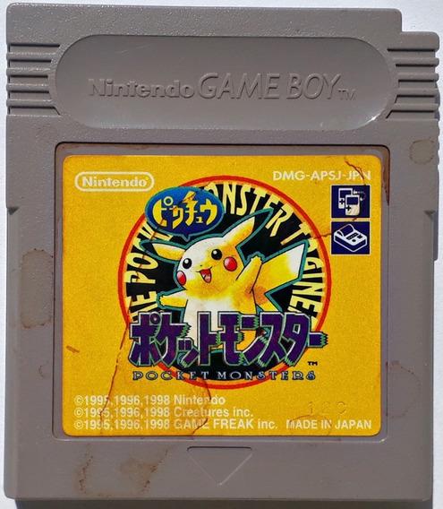 Jogo Pokemon Yellow Gameboy Color Original Japonês Salvando