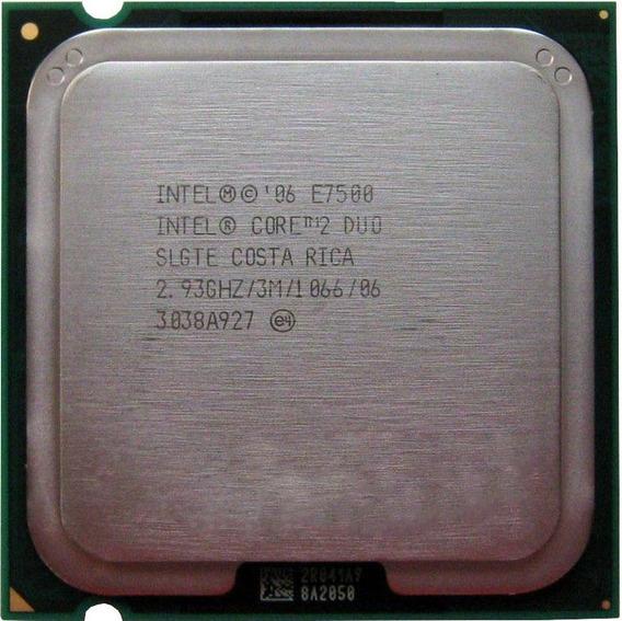 Processador Pc Intel Core 2 Duo E7500 Lga 775 2.93ghz 3mb