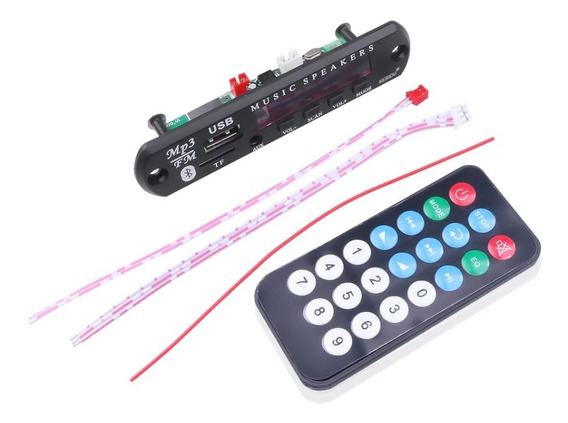 Placa Decodificador Usb Sdcard Caixa Ativa Mp3 Bluetooth 12v