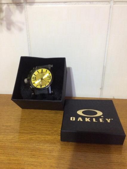 Relógio Oakley Gear Box Preto E Amarelo