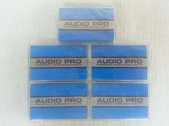 Lote 5 Fitas Cassete Chrome Áudio Pro-60 Tdk Maxell Sony