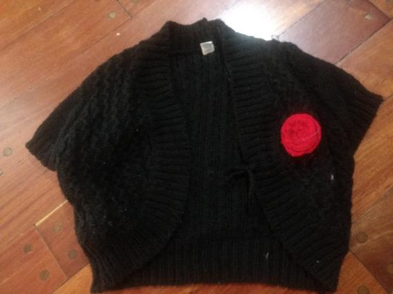 Chaleco Lana Talle 8 Nena Negro/sweaters Bolero .saco