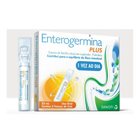 Enterogermina Plus 4 Bcfu/5ml X 5 Frascos Sanofi