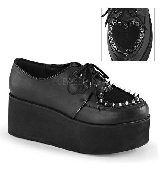 Demonia Zapatos Suela Alta Pvc Grip-02 Punk Goth
