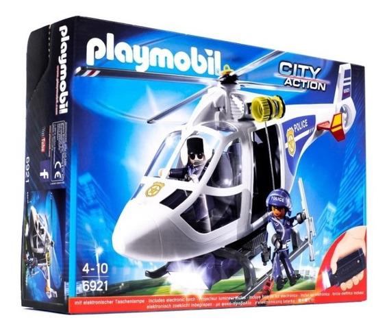 Playmobil - Helicóptero Rescate Con Figuras Y Accesorios