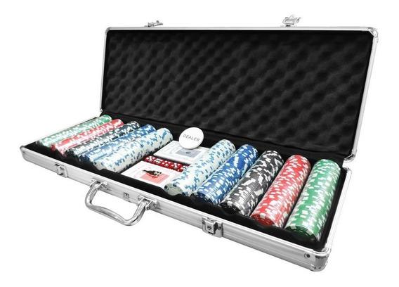 Maleta De Poker Com 500 Fichas Sem Numeração