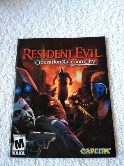 Manual Do Game Resident Evil Operation Raccoon Ps3 *** Leia