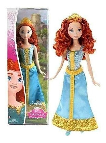 Boneca Princesas Disney - Brilho Mágico - Merida - Mattel