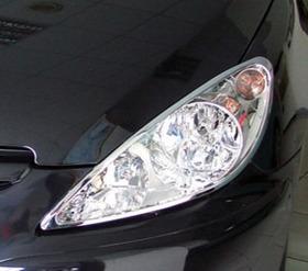 Par Aro Moldura Cromado Farol Peugeot 307 01 02 03 04 05 06