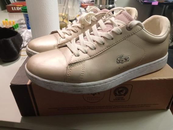 Zapatillas Lacoste Pink Dama Usadas !!!!