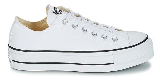Converse Plataforma Piel Color Blanco