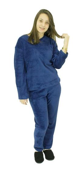 Pijama De Plush Masculino Saída De Banho,dormir Marinho