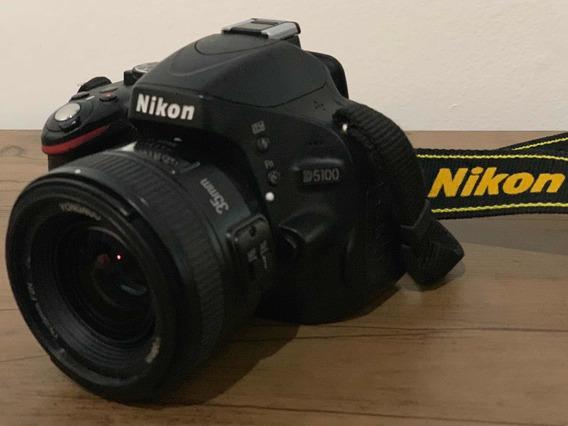 Nikon D5100 + Lentes E Cartão De Memória Wi-fi