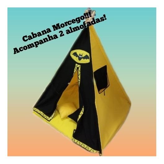 Cabana Morcego Infantil 120x160 Com 2 Almofadas Ciabrink