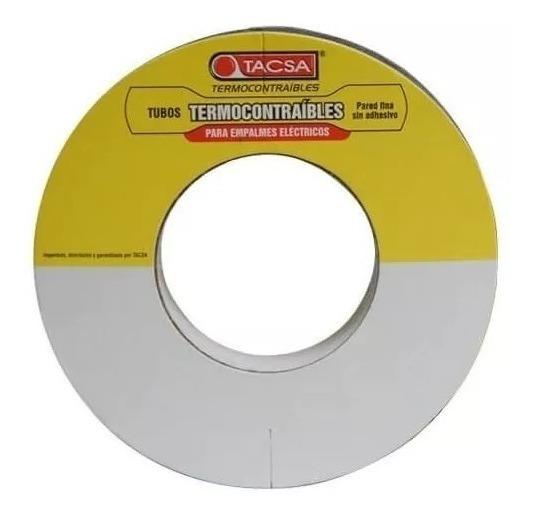 Tubo Termocontraible Pared Fina S/adhesivo 3,2mm 10mt.(1/8)