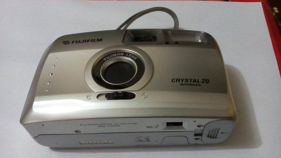 Máquina Fotográfica Antiga Fuji Cristal20 Automatic - Perfeita Para Colecionadores