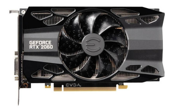 Placa de vídeo Nvidia Evga GeForce RTX 20 Series RTX 2060 06G-P4-2061-KR Black Edition 6GB