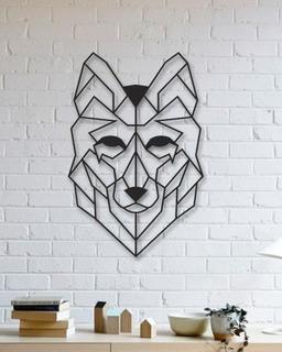 Quadro Decorativo Parede Animal Lobo Minimalista 02 90cm