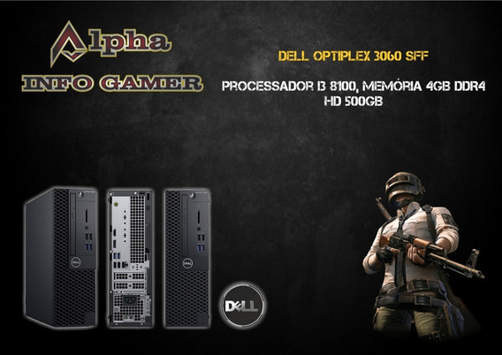 Cpu Dell Optiplex 3060 Sff - I3-8100 - 4gb Ddr4 Ram - 500gb