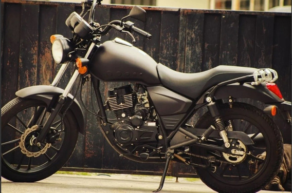 Moto Tipo Harley/caferacer Marca Ics Negra
