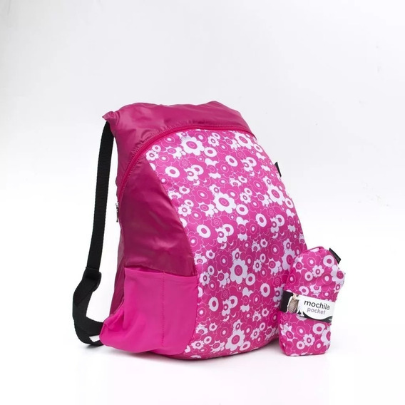 Mochila Pocket Expandible Plegable Impermeable Color Trendy