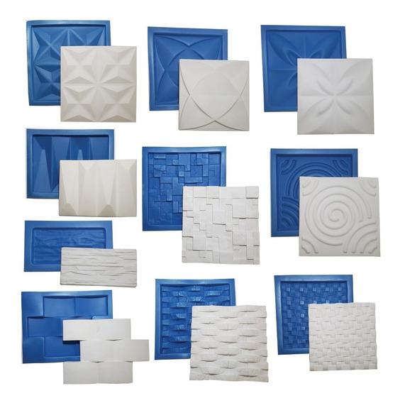 10 Formas Gesso Revestimento 3d Borracha E Plástico Oferta