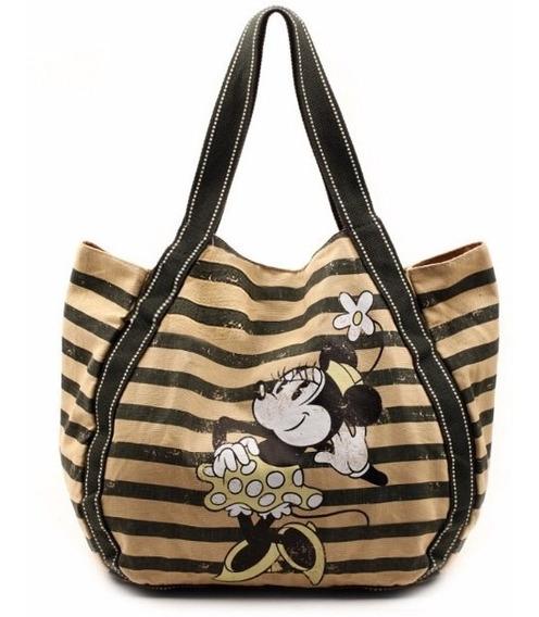 Bolsa Minnie Disney 100% Original E Importada Listras
