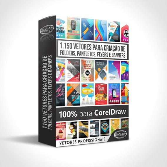 Vetores Para Corel Draw Folder, Panfleto E Flyer + Bônus