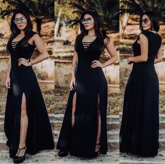 Vestido Longo Festa Roupas Femininas Com Bojo Promoção Ofe