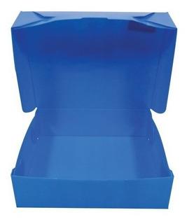 Caja Archivo Extra Grande 38x27x12 Plástica Azul X100u