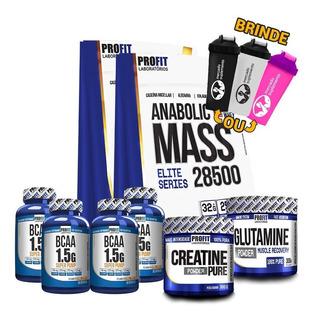 2x Anabolic Mass 3kg + 4x Bcaa + Creatina + Glutamina + Coq