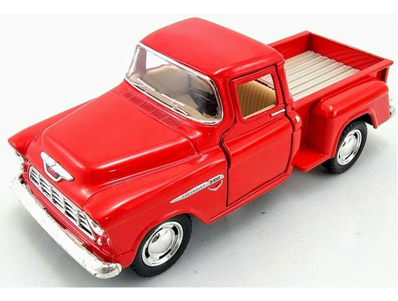 Carrinho Miniatura Chevy Stepside Pick-up 1955 Escala 1:32