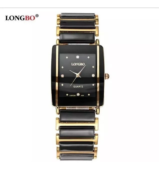 Relógio Feminino Longbo Dourado Black Gold Modelo 408