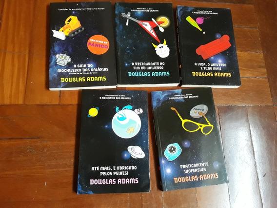 Coleção 5 Livros O Mochileiro Das Galáxias. Otimo Estado