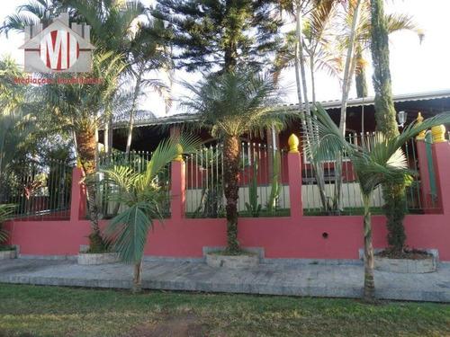 Imagem 1 de 12 de Linda Chácara Com 05 Dormitórios, Piscina, Espaço Gourmet, À Venda, 1000 M² Por R$ 470.000 - Zona Rural - Pinhalzinho/sp - Ch0543