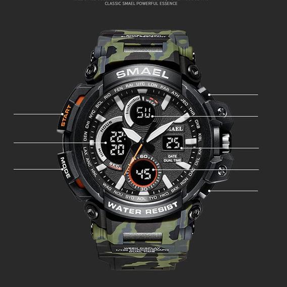 Relógio Smael Camuflado Militar 1708 Prova D