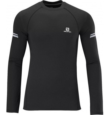 Camiseta Termica Salomon Baselayer Hydrid Envios País Negro