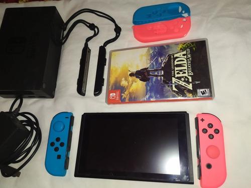 Nintendo Switch Neon 32 Gb+estuche+zelda Botw + Acc Original