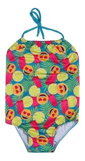 Vestido De Baño Enterizo Para Niña- Emoji