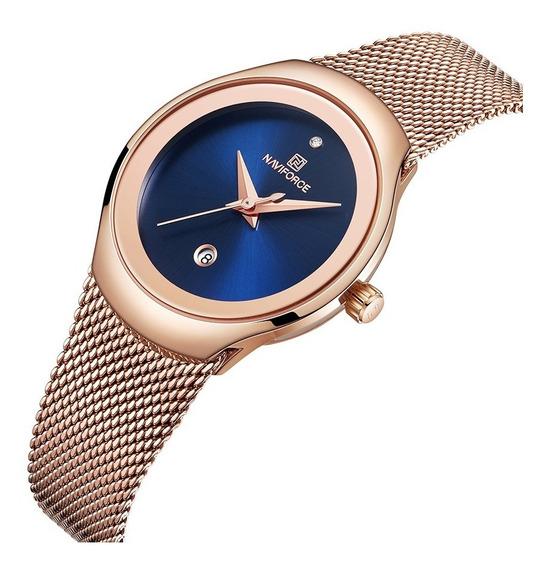 Relógio Feminino Naviforce Casual Fashion Luxo Lançamento
