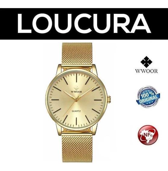 Relógio De Pulso Wwoor 8832 Masculino Clássico De Luxo