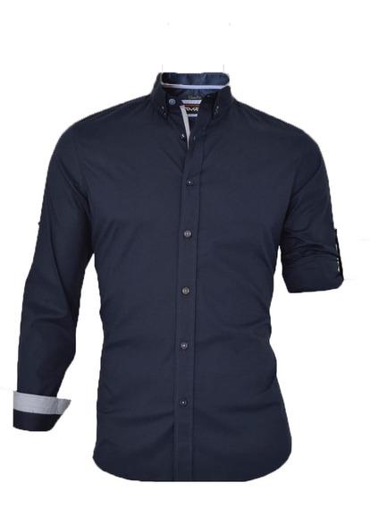 Camisa Para Hombre De Vestir Fashion Slim Fit