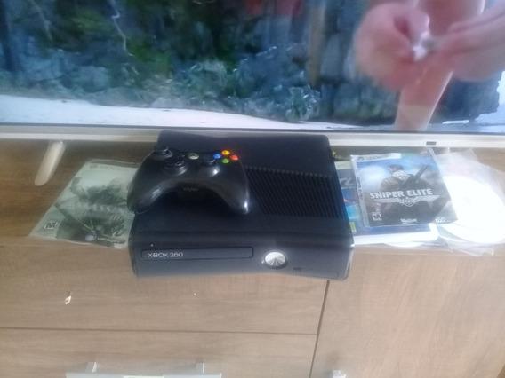 Xbox 360 Slim Desbloqueado + 2 Controles + 30 Jogos + Kinect