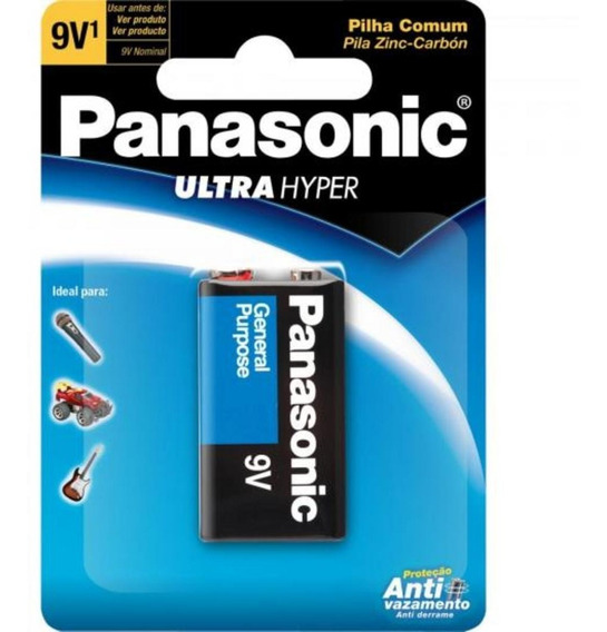 Bateria 9v 6f22upt/1b Panasonic
