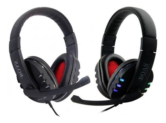 Headset Fone Gamer Usb Compatível Computador Ps4 Ps3 Com Led