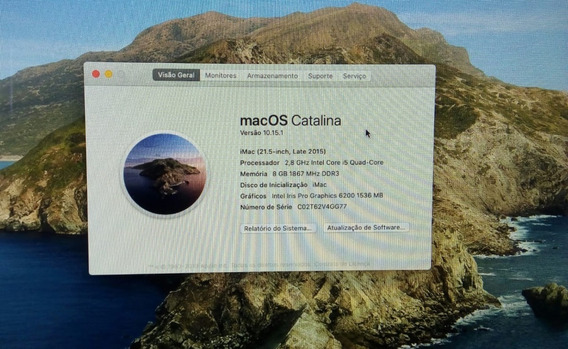 iMac 21.5 Late 2015 2,8ghz Intel Core I5 8 Gb