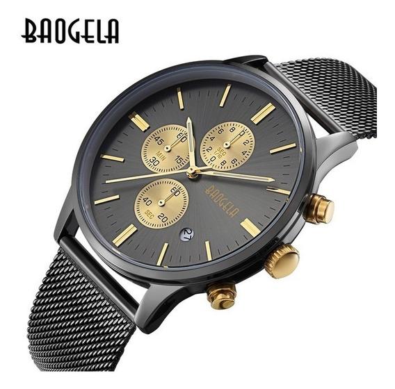 Relógios Masculino Baogela Multi-função Cronógrafo